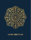 Снежинка вектора с градиентом золота Стоковое Фото
