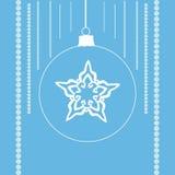 Снежинка в шарике рождества Стоковые Изображения RF