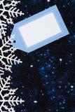снежинка граници Стоковые Изображения