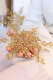 Снежинка золота Стоковые Фотографии RF