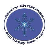Снежинка изображения на рождестве и Новом Годе Стоковая Фотография
