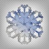 Снежинка иллюстрации вектора запаса реалистическая изолированный на прозрачной предпосылке Падение снега Хлопь снежка 10 eps бесплатная иллюстрация