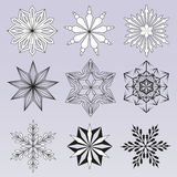 Снежинка иллюстрации абстрактная Стоковое Фото