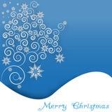 Снежинка и curles на бумажной предпосылке Стоковое Изображение