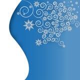 Снежинка и curles на бумажной предпосылке Стоковые Фотографии RF
