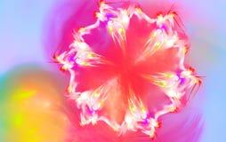 Снежинка которая выглядеть как цветок весны фракталь Стоковое Изображение RF
