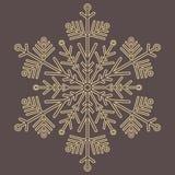 Снежинка милого вектора круглая золотая Стоковое Фото