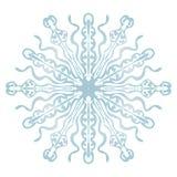 Снежинка на белой предпосылке стоковые изображения rf