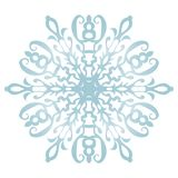 Снежинка на белой предпосылке стоковое фото