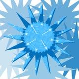 Снежинка на голубом background2 Стоковые Фото