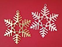 Снежинка орнамента пар Стоковое Изображение