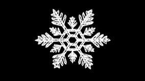 Снежинка поворачивает вокруг перевод 3d иллюстрация вектора