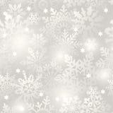 снежинка предпосылки безшовная Стоковая Фотография RF