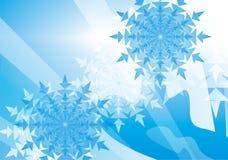 снежинка предпосылки Стоковое Изображение RF