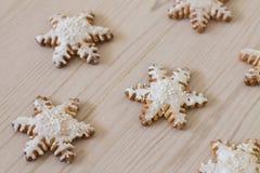 Снежинка пряника Стоковые Фото