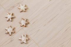 Снежинка пряника Стоковая Фотография
