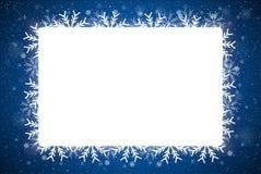 Снежинка рамки прямоугольника Новый Год рождества Стоковое Изображение RF