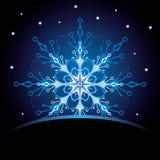 снежинка рождества карточки Стоковые Изображения