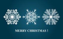 снежинка рождества предпосылки изолированная концом вверх по белизне бесплатная иллюстрация