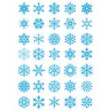 Снежинка рождества установленная Стоковое Изображение