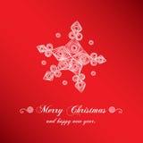 Снежинка рождества handmade Стоковые Фото