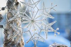 Снежинка украшения дома отдыха стоковое изображение rf