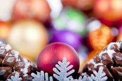 снежинка фокуса украшения рождества мягкая Стоковые Фотографии RF