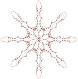 Снежинка фрактали Иллюстрация вектора