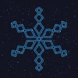 Снежинка яркого рождества накаляя голубая иллюстрация штока