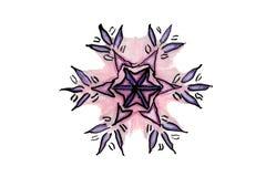 Снежинка иллюстрация штока