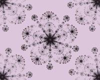 Снежинки абстрактной фрактали симметричные красочные иллюстрация вектора