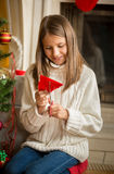 Снежинки бумаги вырезывания девушки для украшений на рождестве Стоковое фото RF