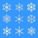 Снежинки вектора установленные для дизайна рождества Стоковая Фотография RF