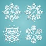 Снежинки вектора Иллюстрация штока