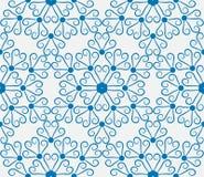 снежинки голубой картины безшовные Стоковое фото RF