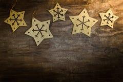 Снежинки звезды золота Стоковые Изображения RF
