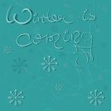 Снежинки зимы пришли Стоковые Изображения RF