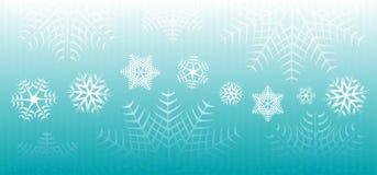 снежинки знамени Стоковые Изображения