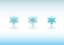 снежинки иконы установленные Стоковая Фотография RF