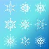 снежинки иконы установленные Стоковые Фото