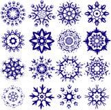 снежинки иллюстрации установленные Стоковое Изображение RF