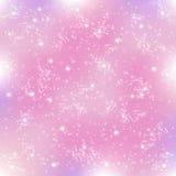 Снежинки и звезды Стоковое Изображение