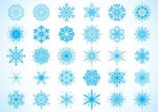Снежинки - иллюстрация Стоковые Изображения