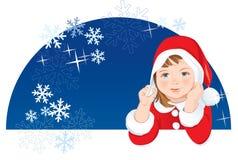 снежинки карлика рождества иллюстрация вектора
