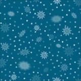 снежинки картины безшовные Текстура рождества зимы декоративная Иллюстрация штока