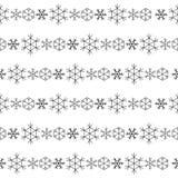 снежинки картины безшовные Стоковые Изображения