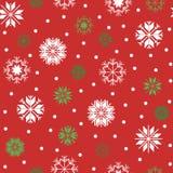 снежинки картины рождества безшовные иллюстрация вектора