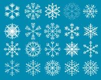 снежинки комплекта элементов конструкции vector ваше Бесплатная Иллюстрация