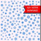 снежинки комплекта элементов конструкции vector ваше Стоковые Фотографии RF