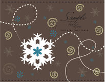 снежинки конструкции Стоковое Изображение RF